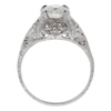 1.05 ct. Old European Cut Bridal Set Ring, J, VS2 #3