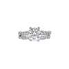 1.56 ct. Round Cut Bridal Set Ring, H, VS1 #3