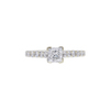 0.98 ct. Princess Cut Solitaire Ring, E, SI1 #3
