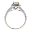 0.62 ct. Princess Cut Bridal Set Ring, F, VS2 #4