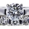 1.02 ct. Round Cut Bridal Set Ring, G, SI2 #4