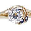 1.43 ct. European Cut Bridal Set Ring #3