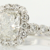 2.10 ct. Radiant Cut Bridal Set Ring #4