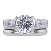 1.52 ct. Round Modified Brilliant Cut Bridal Set Ring, G, VS1 #3