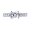 1.00 ct. Princess Cut Solitaire Ring, H, SI2 #3