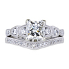1.01 ct. Princess Cut Bridal Set Ring, H, VS1 #3