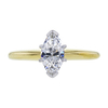 0.80 ct. Marquise Cut Solitaire Ring, E, VVS2 #3