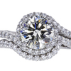 2.00 ct. Round Cut Bridal Set Ring #1