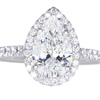 1.50 ct. Pear Cut Halo Ring #3