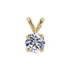 0.71 ct. Round Cut Pendant Necklace, D, VS2 #2