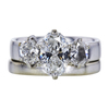1.27 ct. Oval Cut Bridal Set Ring, H, SI2 #1