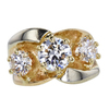 1.10 ct. Round Cut 3 Stone Ring, G, I1 #3