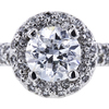 1.14 ct. Round Cut Bridal Set Ring, D, SI1 #4