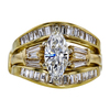 1.05 ct. Marquise Cut Bridal Set Ring, H, SI1 #3