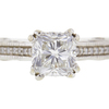 1.09 ct. Cushion Modified Cut Bridal Set Ring, G, VS1 #4