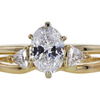 1.02 ct. Oval Cut Bridal Set Ring #3