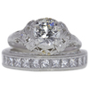 1.05 ct. Old European Cut Bridal Set Ring, J, VS2 #2