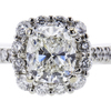 1.15 ct. Cushion Cut Halo Ring, I, I1 #3