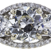 1.87 ct. European Cut 3 Stone Ring #2