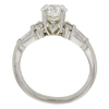1.22 ct. Round Modified Brilliant Cut Bridal Set Ring, G, SI2 #4