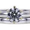 0.75 ct. Round Cut Bridal Set Ring, F, SI1 #4