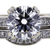 1.19 ct. Round Cut Bridal Set Ring #4