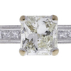 1.01 ct. Radiant Cut Bridal Set Ring, K, VS2 #4