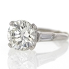 3.58 ct. Round Cut 3 Stone Ring #2