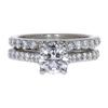 1.15 ct. Round Cut Bridal Set Ring, F, SI2 #3