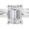 0.78 ct. Emerald Cut Solitaire Ring, D, VS1 #4