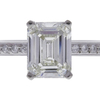 1.27 ct. Emerald Cut Solitaire Ring, J, VS1 #4
