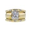 1.50 ct. Princess Cut Bridal Set Ring, H, VS2 #3