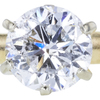 1.10 ct. Round Cut Solitaire Ring, F, I1 #1
