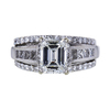 1.31 ct. Emerald Cut Bridal Set Ring, I, VS1 #3