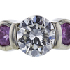 0.87 ct. Round Cut Bridal Set Ring, H-I, I1 #1