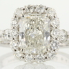 2.10 ct. Radiant Cut Bridal Set Ring #1