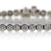Round Cut Tennis Bracelet #1