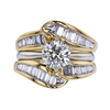 1.30 ct. Round Cut Bridal Set Ring, K, I1 #3