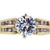1.31 ct. Round Cut Solitaire Ring, H-I, I1-I2 #1