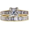 0.89 ct. Princess Cut Bridal Set Ring, G, SI1 #3