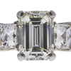 2.22 ct. Emerald Cut 3 Stone Ring, K, VS2 #4