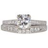 1.01 ct. Round Cut Bridal Set Ring, G, I1 #3