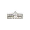 0.89 ct. Pear Cut Bridal Set Ring, H, SI2 #3