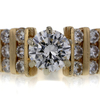 1.55 ct. Round Cut Central Cluster Ring #1
