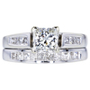 .99 ct. Round Cut Bridal Set Ring, I, VS1 #1