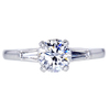 1.01 ct. Round Cut 3 Stone Ring, E, VS2 #3