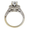 1.07 ct. Round Cut Halo Ring, E, SI1 #4