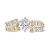 0.72 ct. Round Cut Bridal Set Ring, G, I1 #3