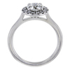 0.82 ct. Round Cut Halo Ring, F, SI1 #3
