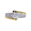 0.71 ct. Round Cut Solitaire Ring, F, I1 #3